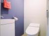 s-150-itx-06手洗い器レスのスリムな便器に省スペースの手洗いカウンターを選定し、ゆったりとしたトイレ空間に。