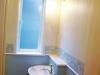 トイレにはシェルデザインの陶器製洗面ボールをセレクト。