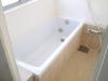 ご主人たっての「浴槽で足をのばしたい」という希望に、洗い場のスペースを縮小。自分仕様の納得のお風呂が完成。