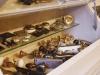 ドアノブのサンプル。ほかにはないアンティークものなど、趣のあるデザインが揃う。