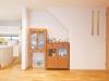 寸法を事前に合わせて配置位置を決め、ピッタリ収めたお気に入りの家具。